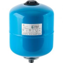 Stout Расширительный бак для водоснабжения 8 л. с незаменяемой мембраной (синий) фото