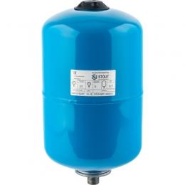 Stout Расширительный бак для водоснабжения 12 л. с незаменяемой мембраной (синий) фото
