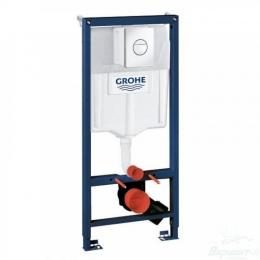 Grohe Solido 3 в 1 для подвесного унитаза, с накладной панелью Nova Cosmo и принадлежностями для монтажа перед стеной фото